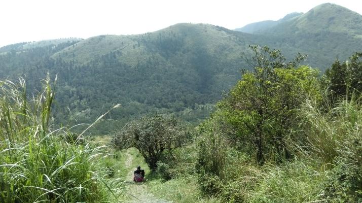 descending from the peak