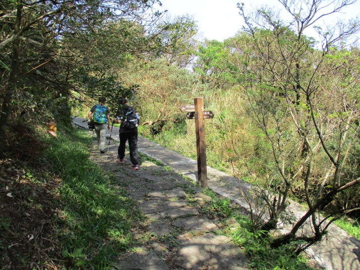 trail junction, keep going straight here then return after seeing the pond