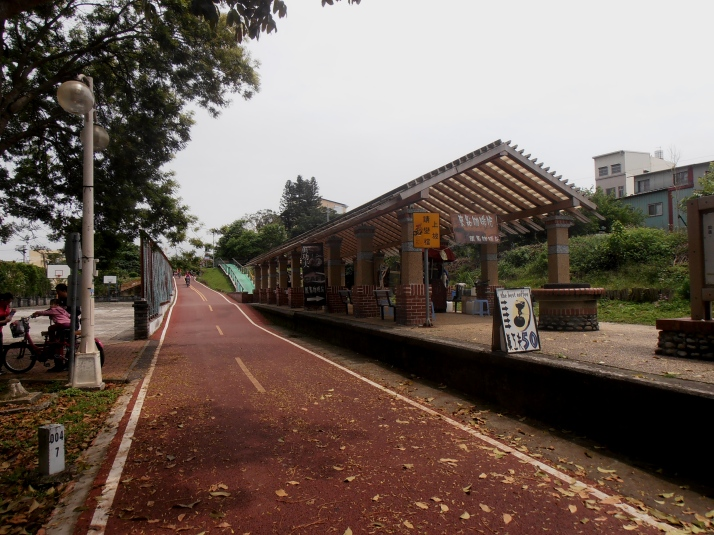 train station with earthquake damaged tracks