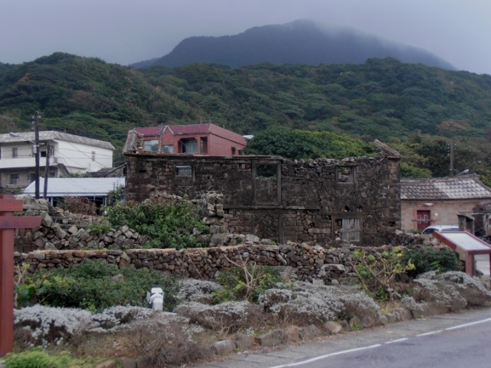 old stone house in a fishing village