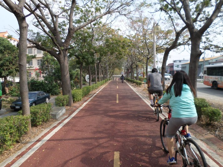 biking towards the honey farm