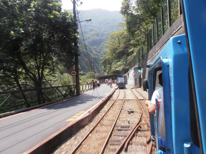 mini-train station at Wulai Falls Village