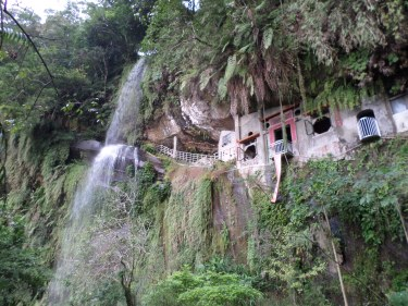 Yinhe Cave Temple and Waterfall