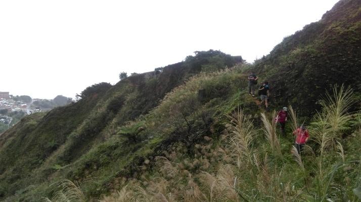 going over an old landslide