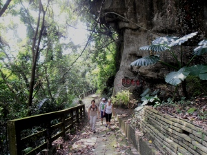 hiking up to Quanhua Temple