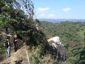 exposed cliff edge
