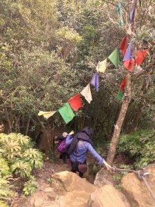 short, steep climb at the peak