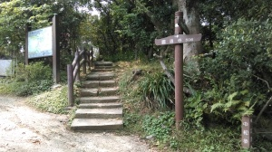 trail at the base of the temple