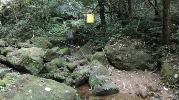 trail junction, keep going straight following the stream