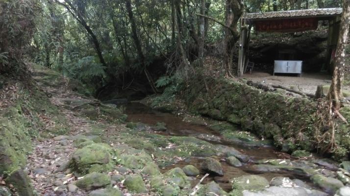 trail passing a Land God shrine