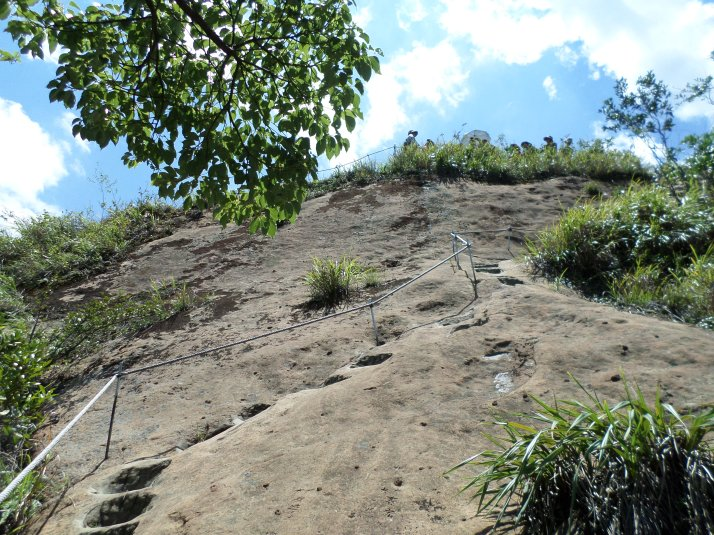 climbing up Tzumu Peak