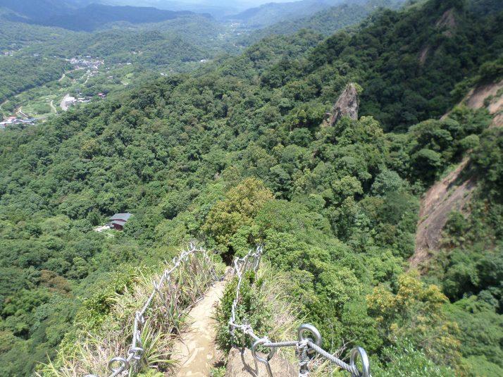 climbing down Tzumu Peak