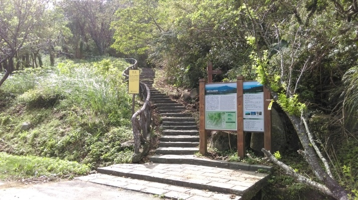 start of the Mt Zhongzheng trail
