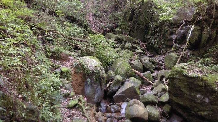 rocky stream crossing