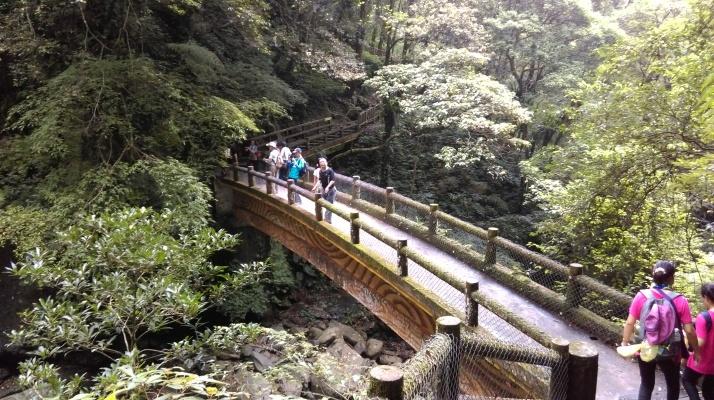 bridge in front of ManYueYuan Waterfall